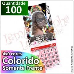 100 Imãs 5x7 cm Personalizados com Calendário para Geladeira ou Painel de Metal