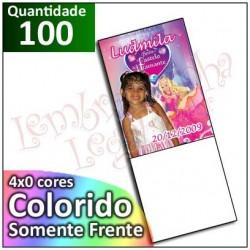 100 Imãs 5x7 cm Personalizados com Folhinha Branca para Geladeira ou Painel de Metal