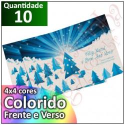 10 Convites Personalizados 10x15 cm Reciclado Fosco