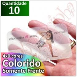 10 Convites Personalizados 10x15 cm PVC Transparente