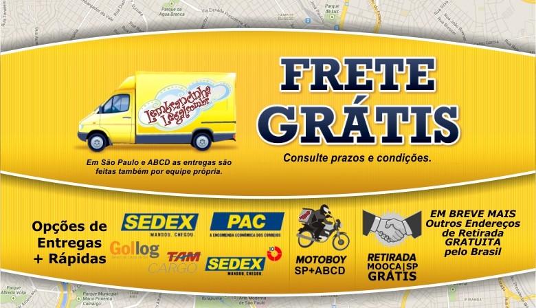 Frete Gratuito ou Pago. Seu pedido entregue com confiança. Retire seu pedido conosco aqui na Mooca | SP grátis.