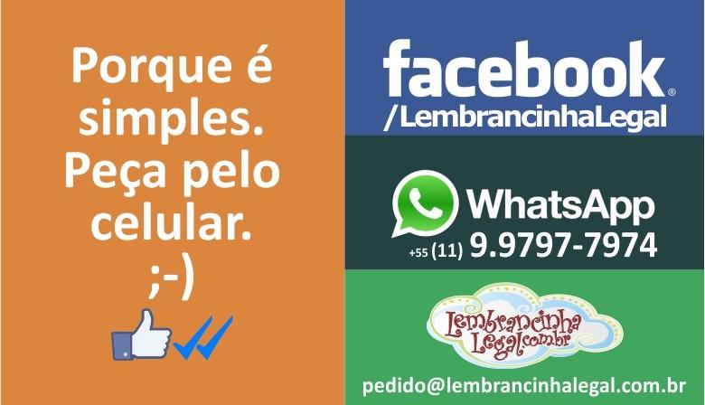 Porque é simples. Peça pelo celular. No Facebook e no WhatsApp ;-)